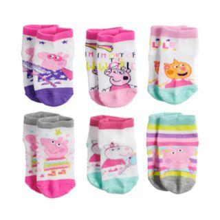 Toddler Girl Peppa Pig 6-pk. Low-Cut Socks
