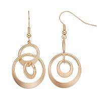 Nickel Free Interlocking Circle Drop Earrings