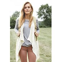 Women's SONOMA Goods for Life™ Cable-Knit Long Sweater Vest