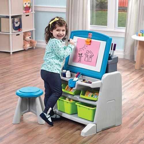 step2 flip doodle easel desk stool