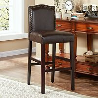 Morgan Nailhead Bar Stool