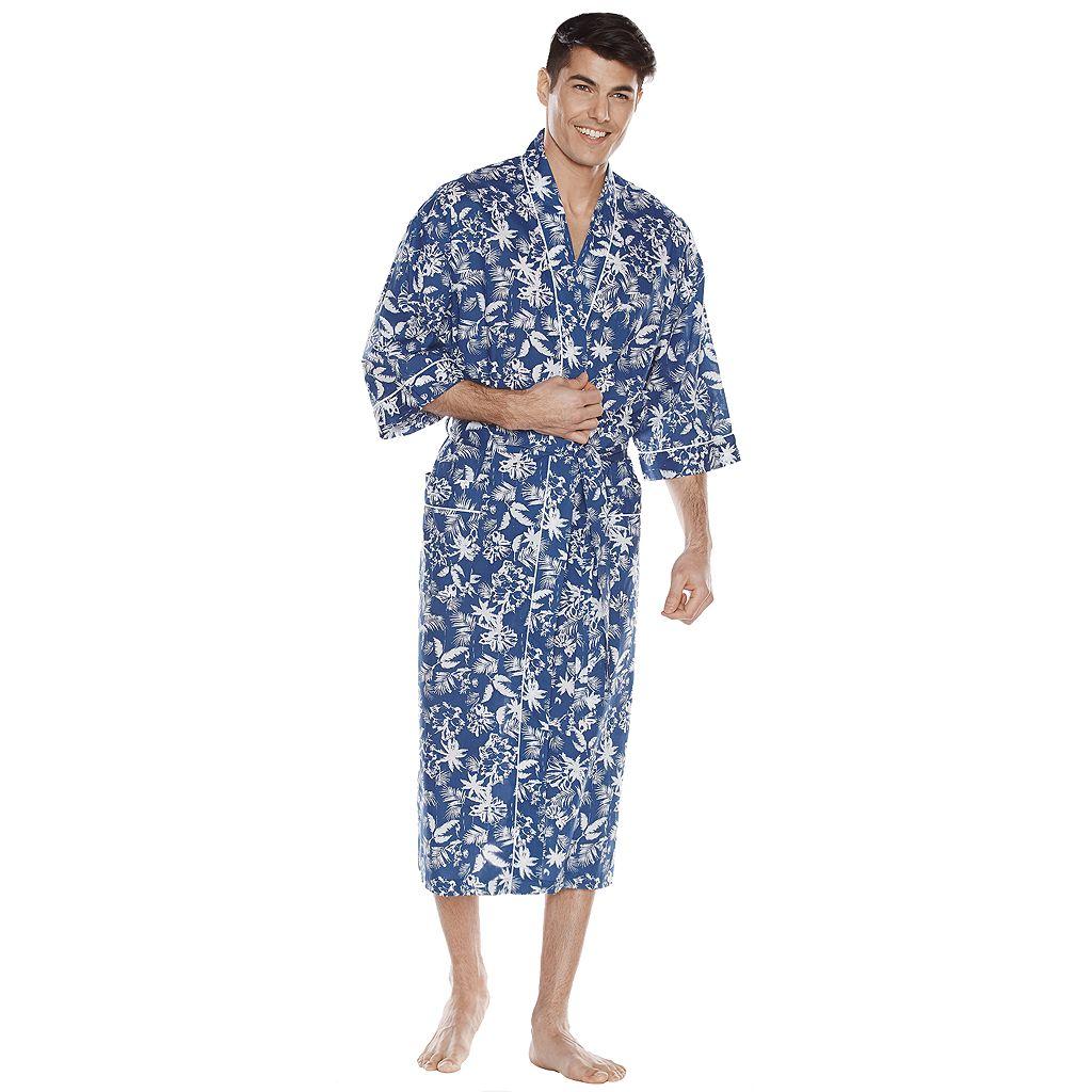 Big & Tall Residence Tropical Kimono Robe