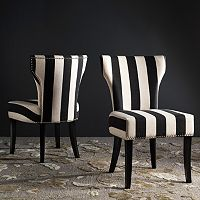 Safavieh Striped Accent Chair 2 pc Set