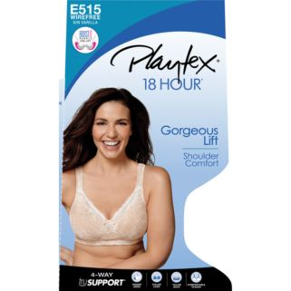Playtex 18 Hour Bra: Perfect Lift Lace Wire-Free Full-Figure Bra E515