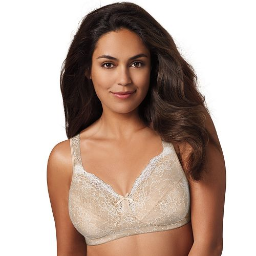 ed3e8d71e0111 Playtex 18 Hour Bra: Perfect Lift Lace Wire-Free Full-Figure Bra E515