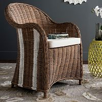 Safavieh Hemi Striped Wicker Club Chair
