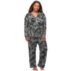 Plus Size Apt. 9® Pajamas: Satin Trim Pajama Set