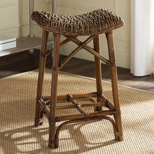 Safavieh Ramiro Wicker Bar Stool