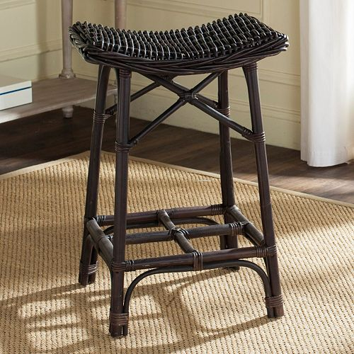 Safavieh Amara Wicker Bar Stool