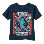 "Toddler Boy Marvel Captain America ""100% Awesome"" Tee"