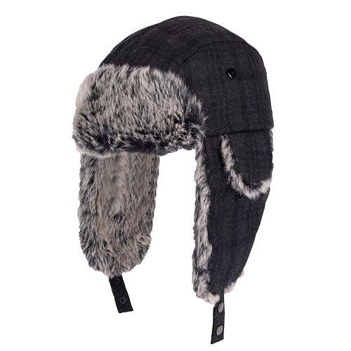afb2991a22373 Men s Dockers Plaid Melton Wool-Blend Trapper Hat