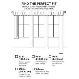 United Curtain Co. 1-Panel Jewel Window Curtain
