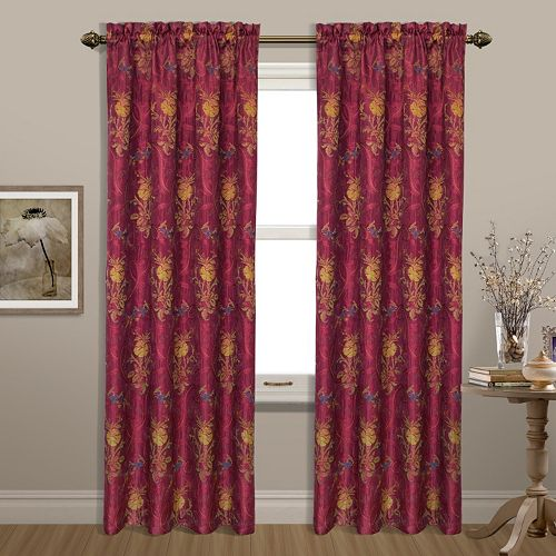 United Curtain Co. 1-Panel Jewel Window Curtain