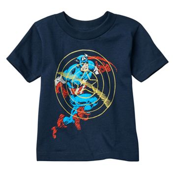 Toddler Boy Marvel Captain America Sonic Shield Tee