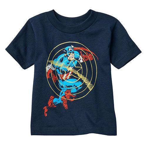 Toddler Boy Marvel Captain America Sonic Shield Tee
