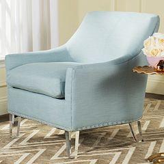 Safavieh Hollywood Glam Sloped Arm Chair
