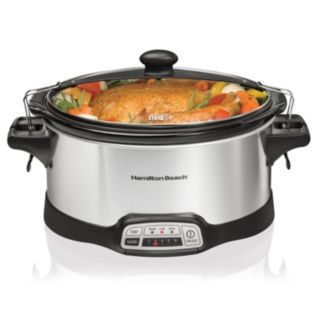 Hamilton Beach 6-qt. Stay or Go Slow Cooker with Lid Rest