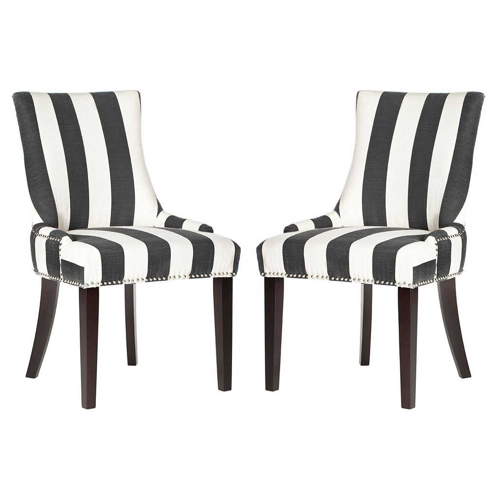Safavieh Lester Awning Stripes Dining Chair 2-piece Set