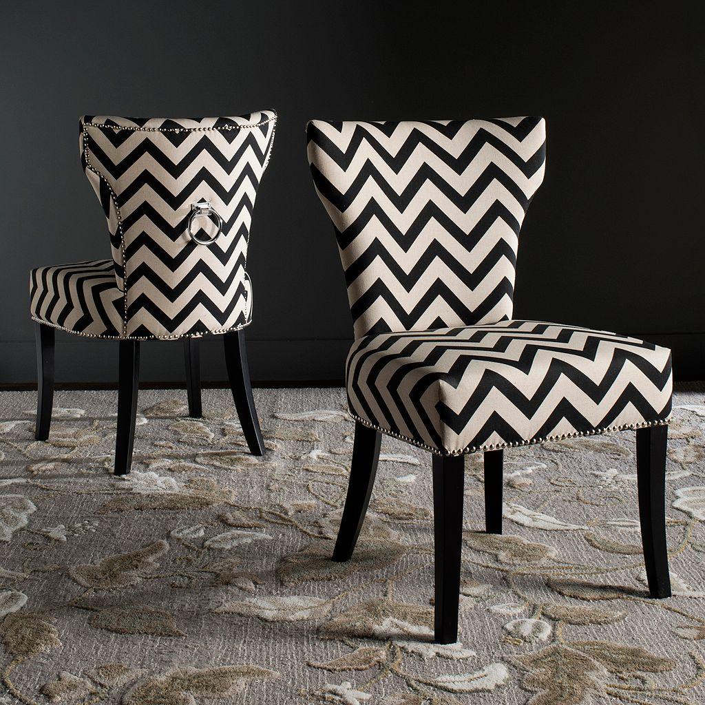 Safavieh Jappic Chevron Accent Chair 2-piece Set