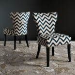 Safavieh Jappic Chevron Accent Chair 2 pc Set
