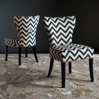 Safavieh Jappic Chevron Accent Chair 2-piece Set