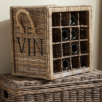 Safavieh Aziza Wicker Wine Rack