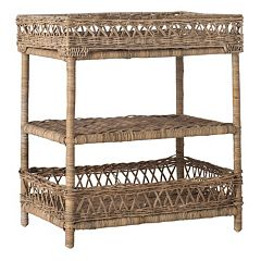 Safavieh Ajani 3 tier Wicker End Table
