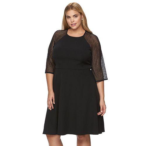 eb0d796cc61 Plus Size Suite 7 Lace Fit   Flare Dress