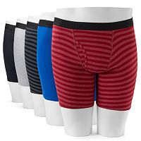 Men's Fruit of the Loom 5-Pack Striped Boxer Briefs