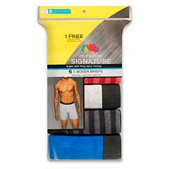 Men's Fruit of the Loom Signature Breathable 5-pack + 1 Bonus Boxer Briefs