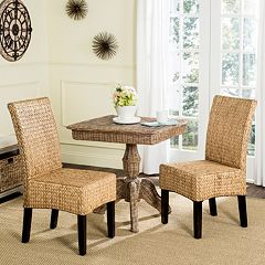 Safavieh Luz Wicker Dining Chair 2-piece Set