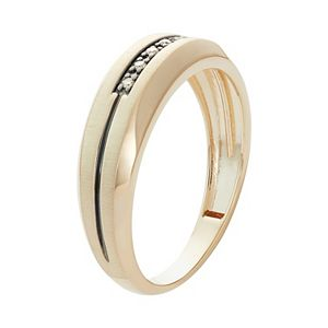 Men's 10k Gold Diamond Accent Wedding Band