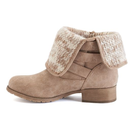 SO® Women's Fold-Over Ankle Boots
