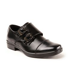 Deer Stags Wit Boys' Cap Toe Monk Strap Dress Shoes