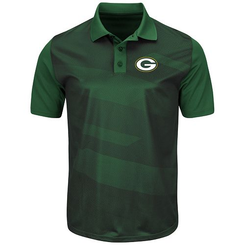 Men's Majestic Green Bay Packers Club Seat Polo
