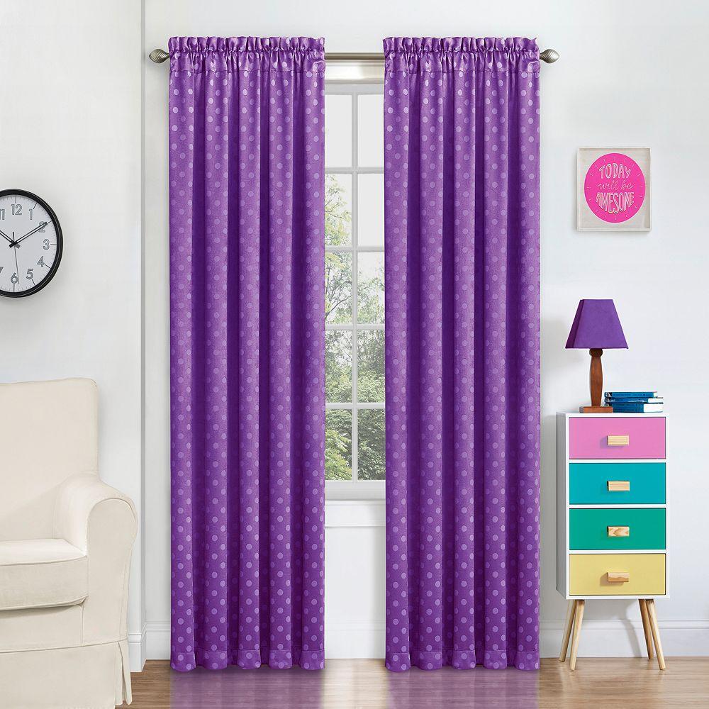 Purple polka dot curtains - Eclipse Polka Dot Thermaweave Blackout Window Curtain