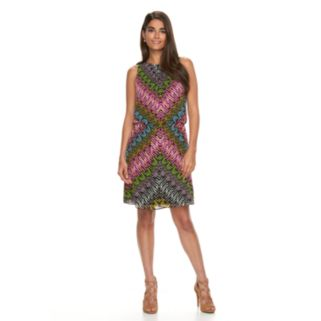Women's Suite 7 Abstract Chevron Blouson Dress