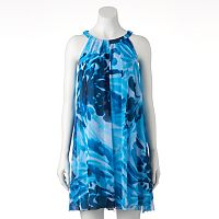 Women's Suite 7 Watercolor Halter Dress