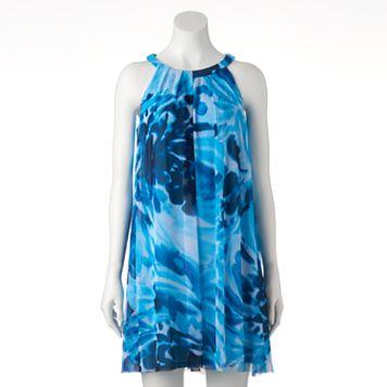 Women's Suite 7 Watercolor Halter Dress