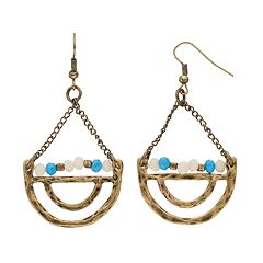 GS by gemma simone Beaded Crescent Drop Earrings