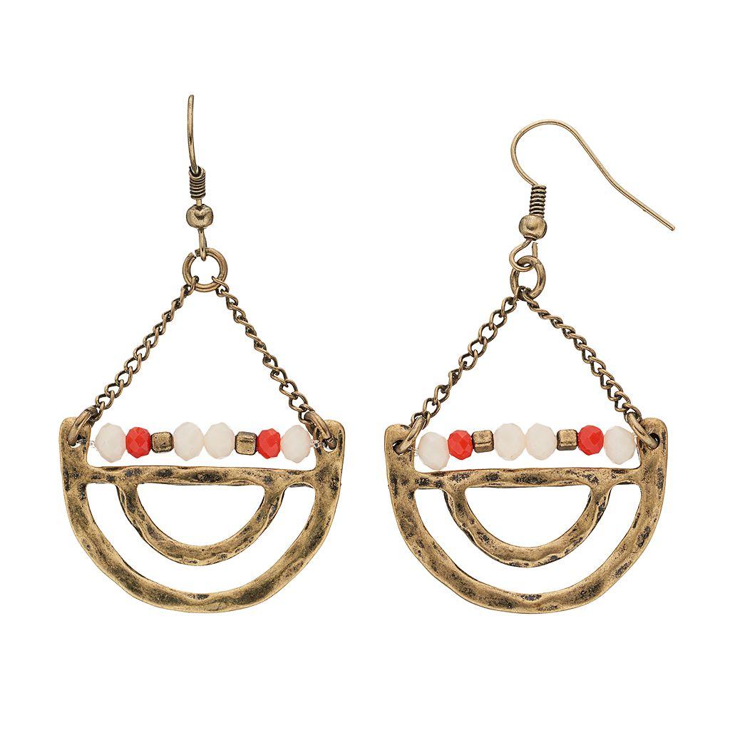 GS by gemma simone Beaded Crescent Drop Earrings