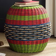 Safavieh Nikos Wicker Barrel Stool
