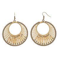 GS by gemma simone Seed Bead Drop Hoop Earrings