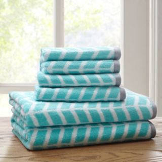 Intelligent Design 6-piece Chevron Jacquard Towel Set