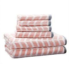Intelligent Design 6 pc Chevron Jacquard Towel Set