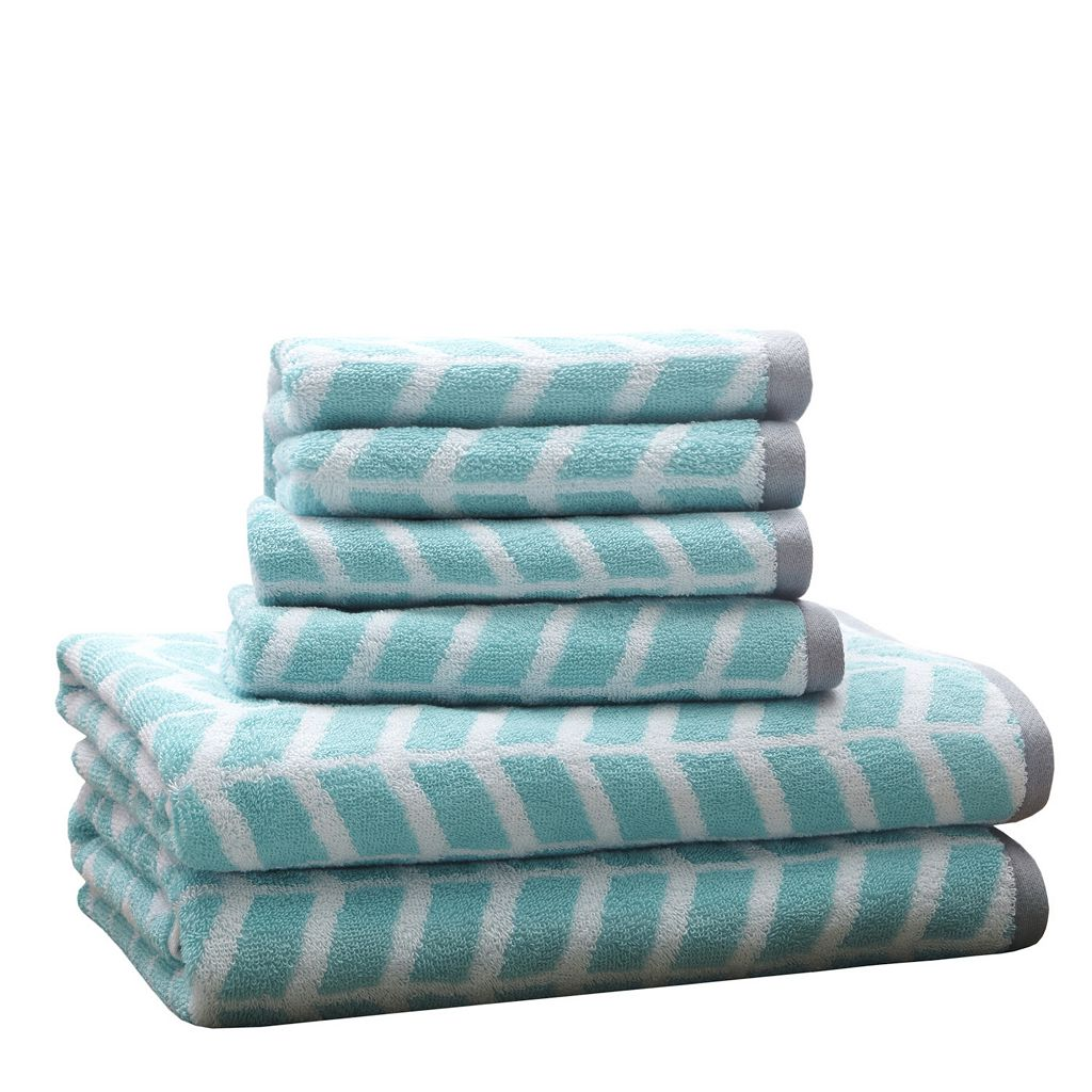 Intelligent Design 6-piece Chevron Jacquard Towel Set