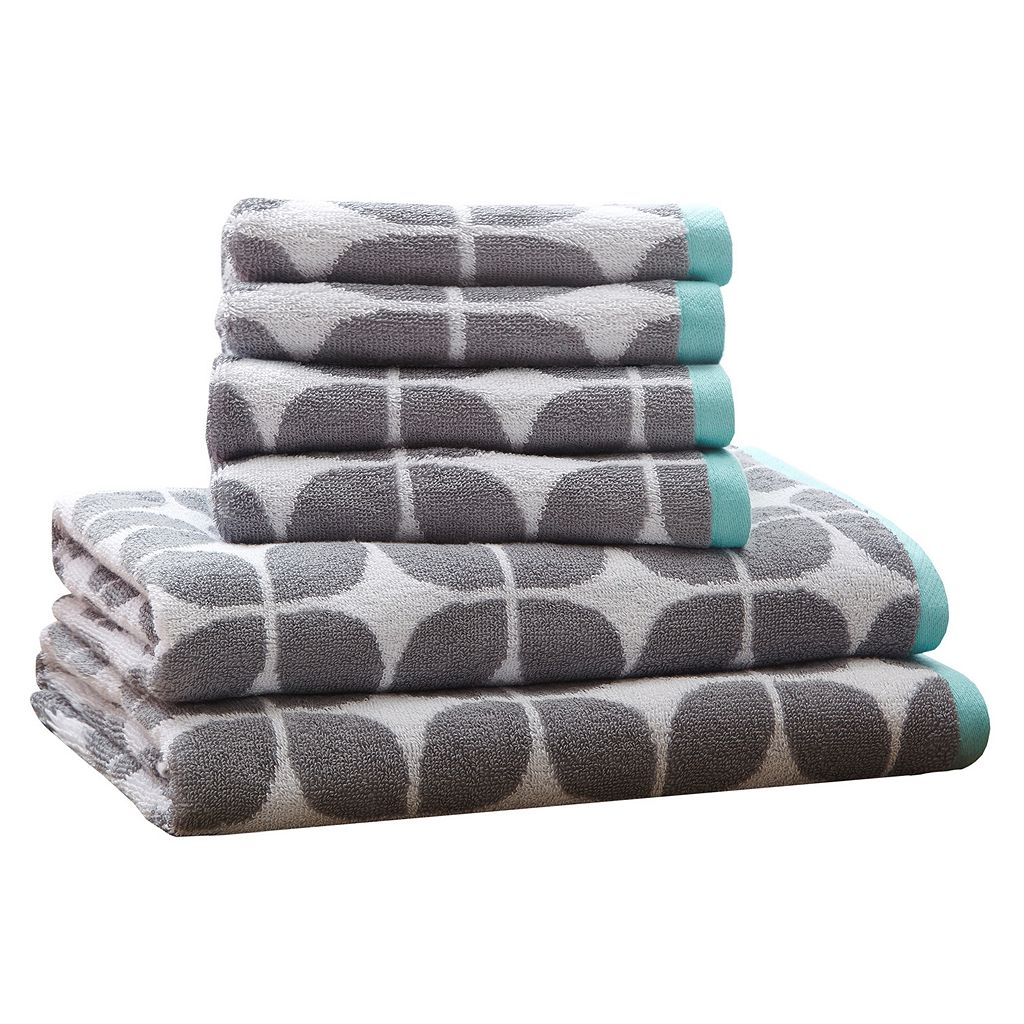 Intelligent Design 6-piece Geo Jacquard Towel Set