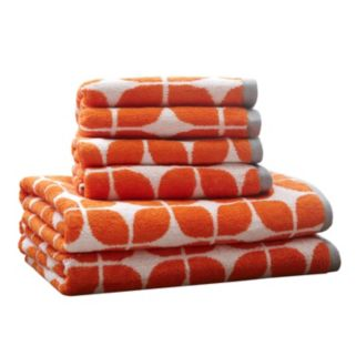 Intelligent Design 6-piece Geo Jacquard Towel Set