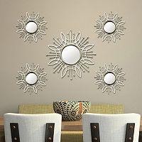 Stratton Home Decor Burst Wall Mirror 5 pc Set