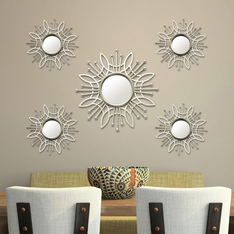 Stratton Home Decor Burst Wall Mirror 5 Piece Set